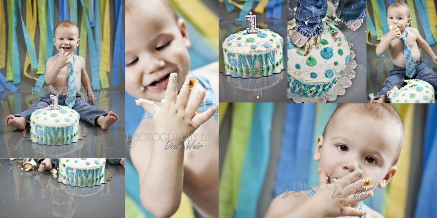1 Year Old Cake Smash Session with Photography By Dawn Weir