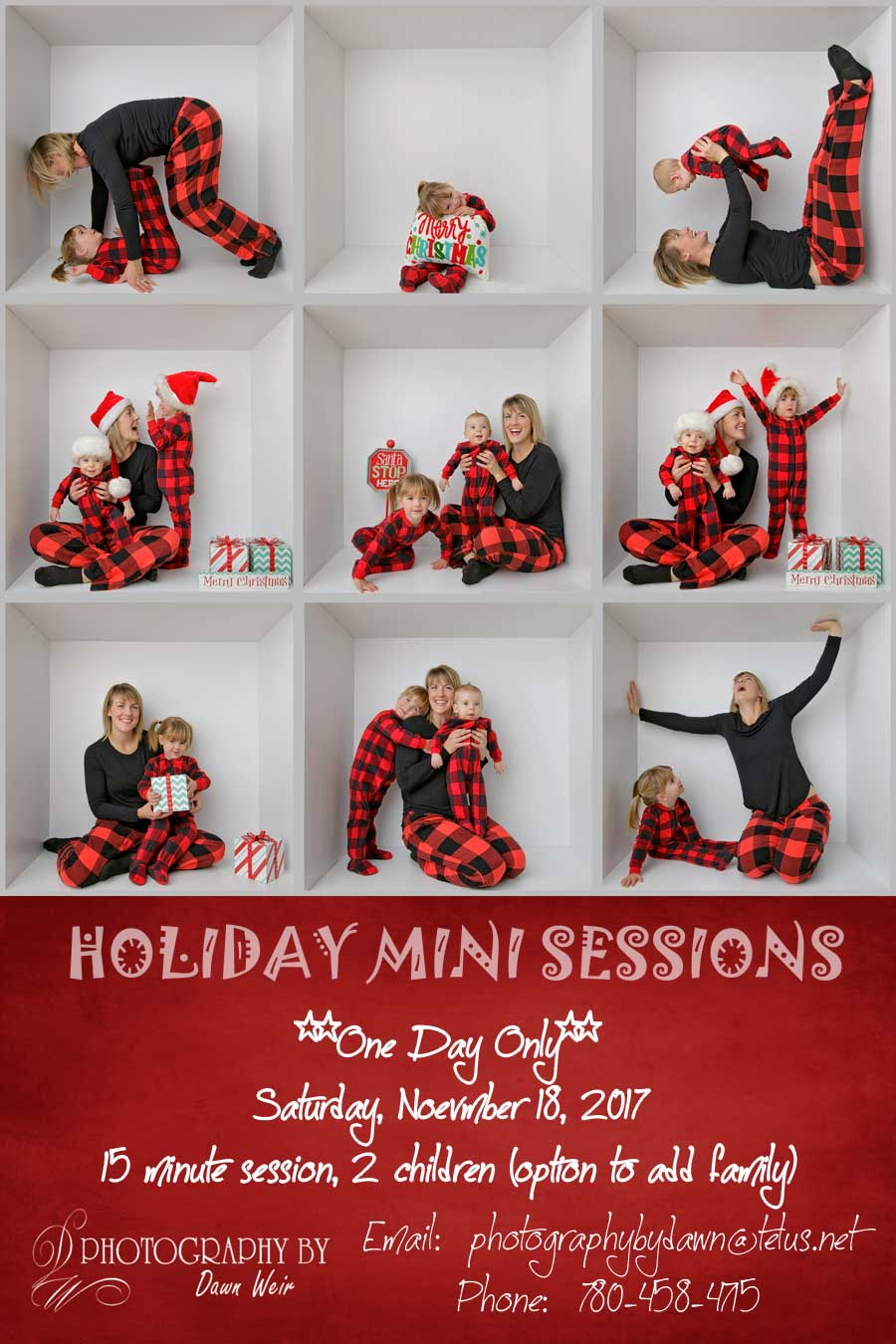edmonton holiday mini sessions 2017