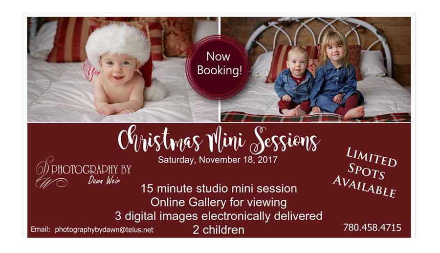 edmonton Christmas mini sessions