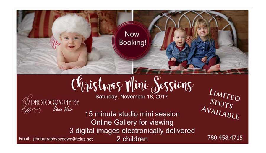 edmonton Christmas mini sessions