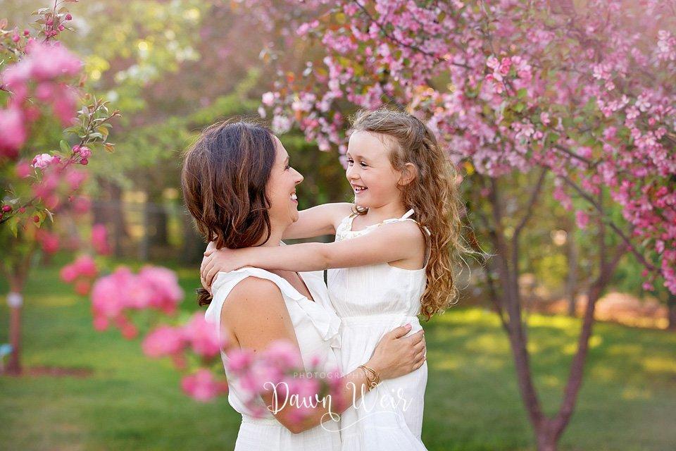 st albert family pink blossom photographer