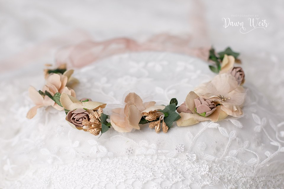 Edmonton Cake Smash Photographer flower wreath headband