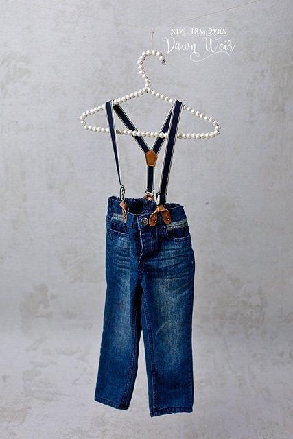 edmonton child photographer boy jean pants with suspenders