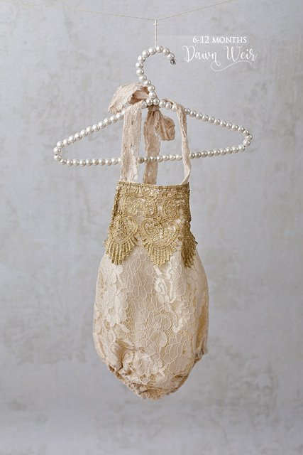 edmonton child photographer 6 to 12 months gold lace romper