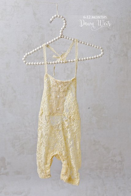 edmonton child photographer 6 to 12 months yellow lace romper